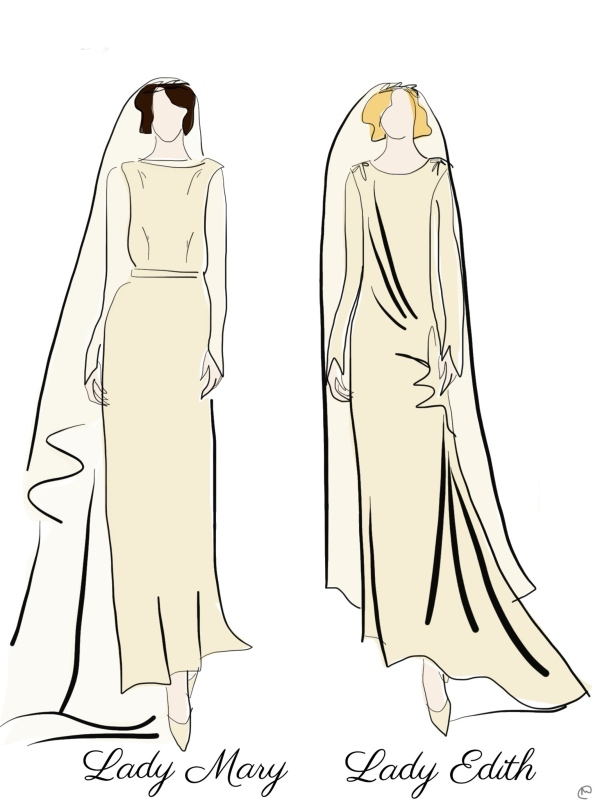 Draw Me the Downton Abbey Wedding Dresses